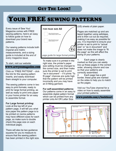 your free patterns